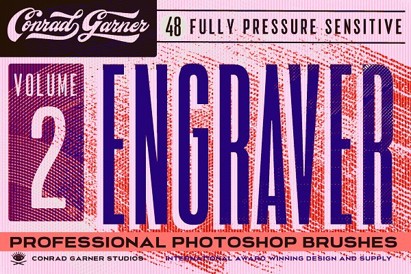 Add-Ons: Conrad Garner Studios - ENGRAVER Brushes - PHOTOSHOP