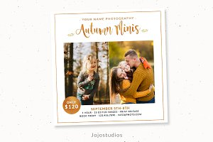 Autumn Mini Session Template