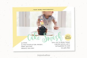 Cake smash marketing template