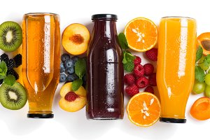summer fruits and juices.