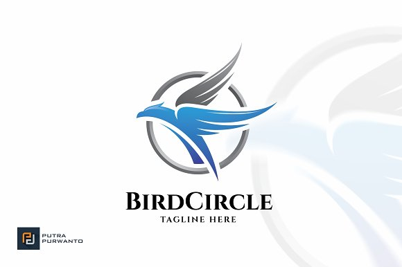 bird circle logo template logo templates creative daddy