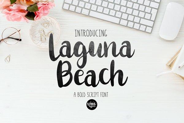 LAGUNA BEACH bold script font