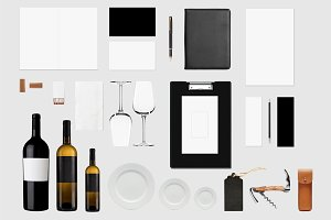 Brand Identity Mockup For Wine Store
