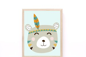 Tribal Bear Printable Wall Art