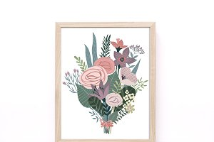 Flower Bouquet Printable Wall Art