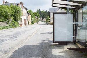bus stop abri mockup