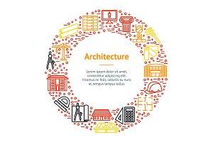Architecture Thin Line Set. Vector