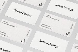 6 Minimal Business Card Mockups Pack