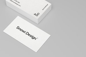 6 Minimal Business Card Mockups Pack