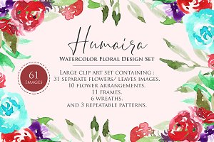 Humaira Watercolor Flower Set