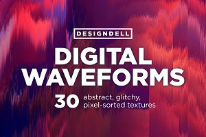 Digital Waveforms Glitch Textures