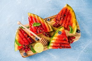 Grilled watermelon