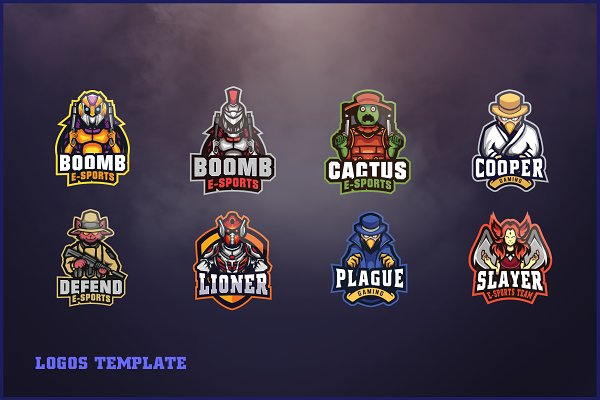 Logo Templates: ovozgraphics - 170 E - Sports Logo Bundle