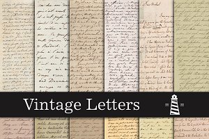 Vintage Handwriting Letters