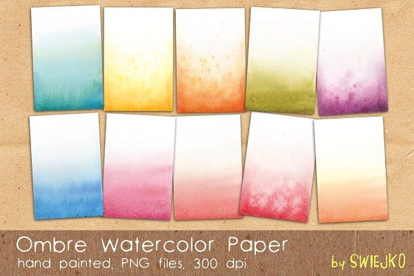 Ombre Watercolor Paper