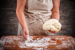 Famela baking bread