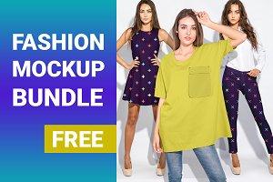 Fashion mockup bundle free