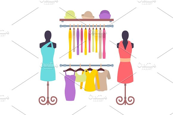 Clothes Hanging on Hangers in Women