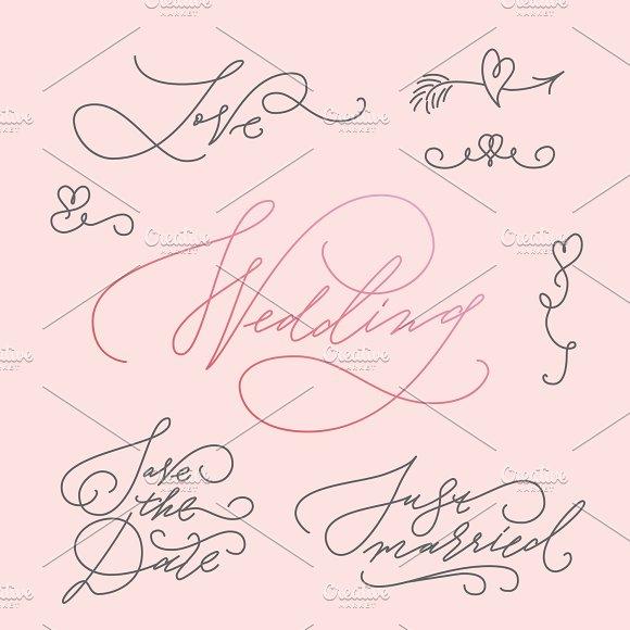 Wedding Calligraphic Letterings Set