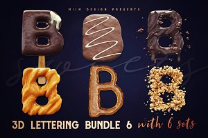 3D Lettering Mega Bundle 6 Sweets