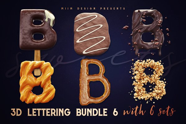 Graphics: MIIM - 3D Lettering Mega Bundle 6 Sweets