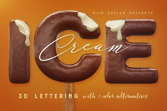 3D Lettering Mega Bundle 6 Sweets in Graphics - product preview 1