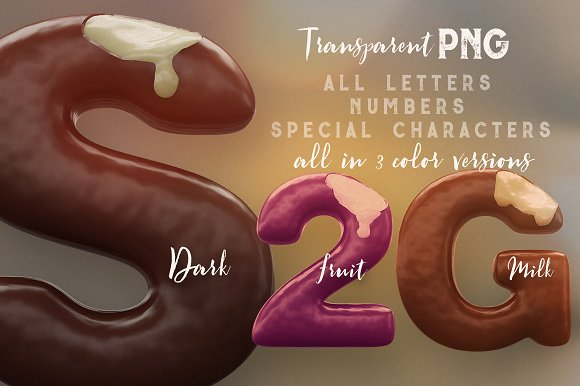 3D Lettering Mega Bundle 6 Sweets in Graphics - product preview 2