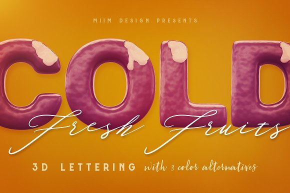 3D Lettering Mega Bundle 6 Sweets in Graphics - product preview 4