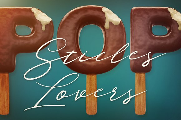 3D Lettering Mega Bundle 6 Sweets in Graphics - product preview 5