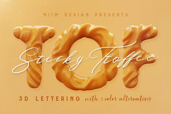 3D Lettering Mega Bundle 6 Sweets in Graphics - product preview 19