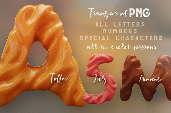 3D Lettering Mega Bundle 6 Sweets in Graphics - product preview 20