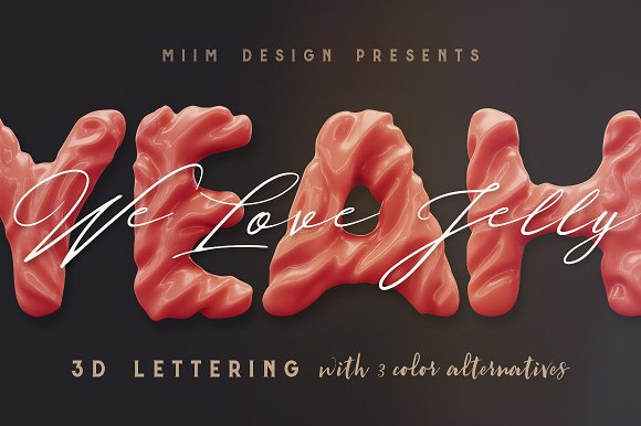 3D Lettering Mega Bundle 6 Sweets in Graphics - product preview 22