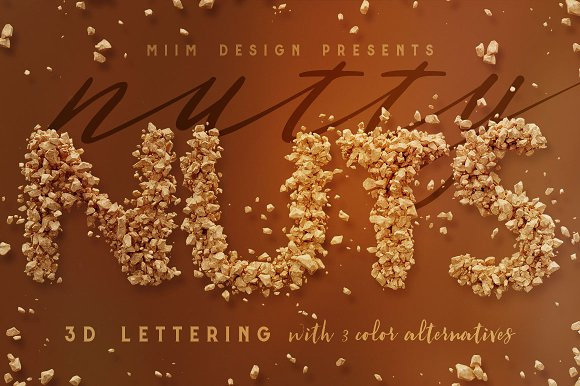 3D Lettering Mega Bundle 6 Sweets in Graphics - product preview 31