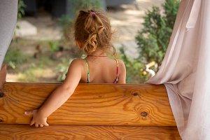 Little Girl behind
