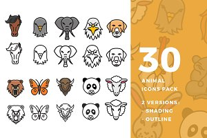 30 Animal Icon Pack
