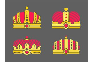 Crowns Collection in Color Vector