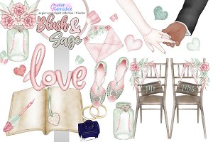 Boho Wedding Clipart 2