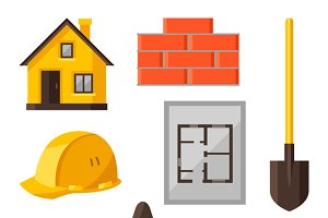 Housing construction objects.