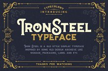 IRONSTEEL OFF 30% by  in Display Fonts