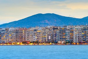 Thessaloniki waterfront panorama
