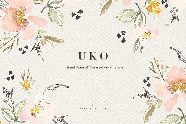 Watercolour Clip Art - Uko
