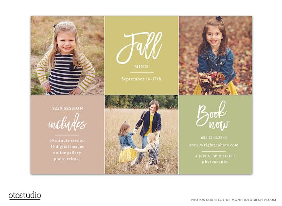 Fall Mini Session Template Flyer Templates Creative Daddy