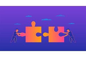 Teamwork Gradient illustration on