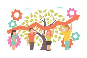 Teamwork Vector illustration for