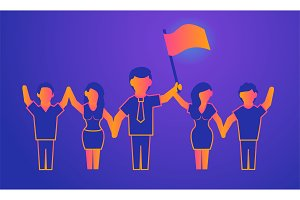 Leadership Gradient illustration on