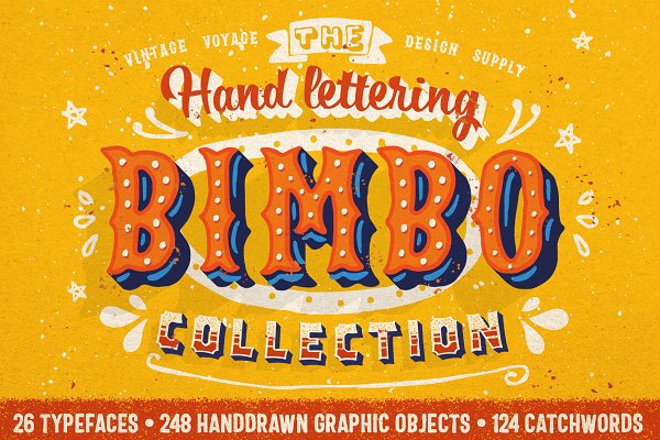 Fonts: Vintage Voyage Design Co. - BIMBO • Hand Lettering Collection