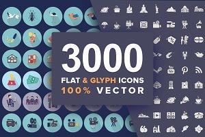 Jumbo Flat-Glyph Icons Pack