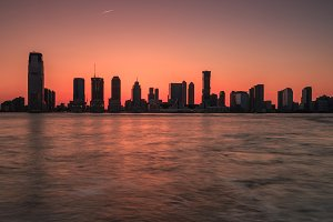 Jersey city view from Hudson river