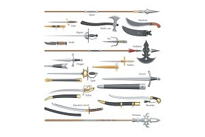 Sword vector medieval weapon of