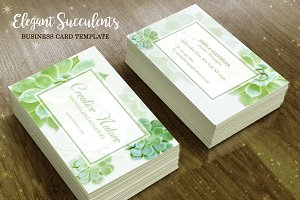 Succulents Business Card Template